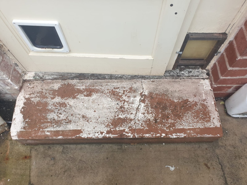 Door Step before Blasting